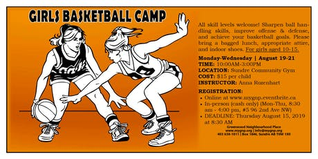 Girls Basketball Camp Ages 10-15 tickets