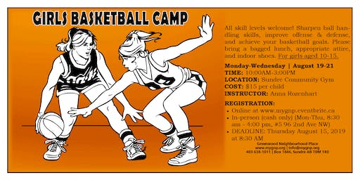 Girls Basketball Camp Ages 10-15