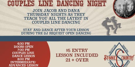 Thursday Night Couples Line Dance Lesson/Social Dance tickets