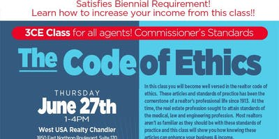 The Code of Ethics - (3 CE - Commissioner's Standards)