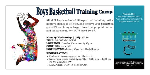 Boys Basketball Camp Ages 10-15