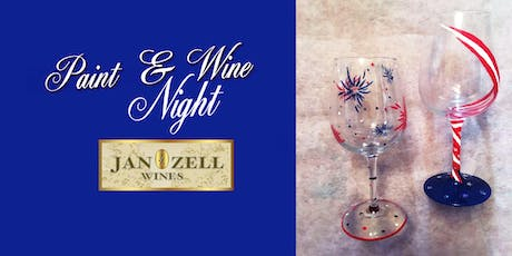Jan Zell Wines Paint Event wine glass tickets