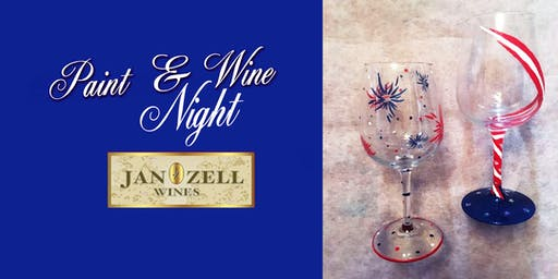 Jan Zell Wines Paint Event wine glass