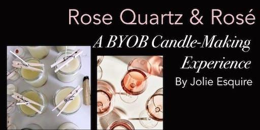 Rose Quartz & Rosé: A BYOB Candle-Making Experience