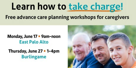 Take Charge! Advance care planning for caregivers tickets