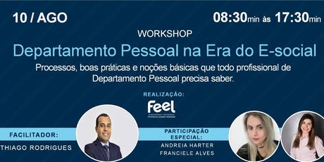 Workshop - Departamento Pessoal na Era do E-social ingressos