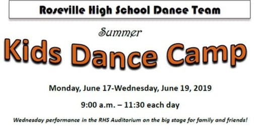 Roseville High School Dance Team Summer Kids Camp 2019