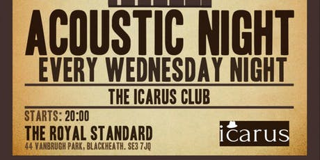 THE ICARUS CLUB - the acoustic singer/songwriter sessions tickets