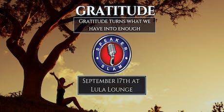 Speaker Slam: Gratitude tickets