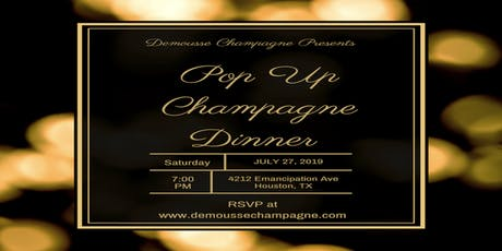 Demousse Champagne Pop Up Dinner tickets