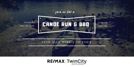 Canoe Run & BBQ with RE/MAX Twin City Realty tickets