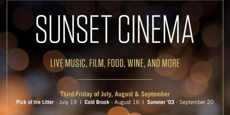 Sunset Cinema 2019 tickets