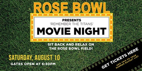 Rose Bowl Movie Night - Remember the Titans tickets