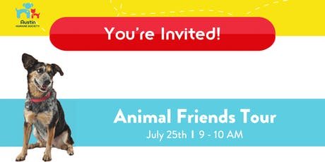 Animal Friends Tour at the Austin Humane Society tickets