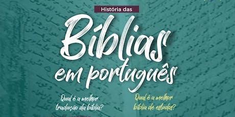 Minicurso História das BÍBLIAS em Português ingressos