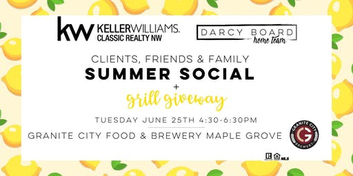 Darcy Board Home Team - Clients, Friends & Family Summer Social + Grill Giveaway