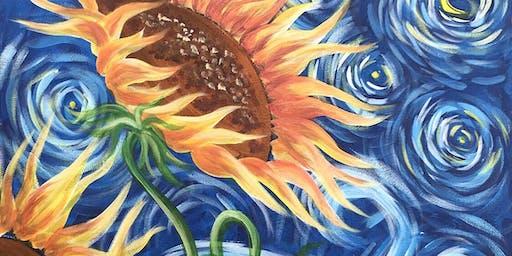 Sunflowers Brush Party - Wokingham