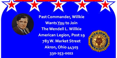 Wendell L. Willkie Post 19 American Legion Open House tickets