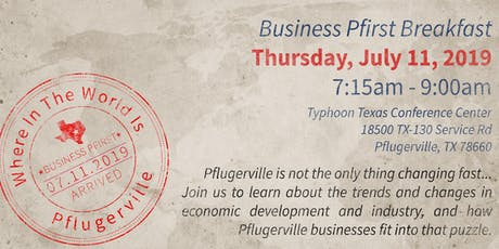 Business Pfirst - Where in the World is Pflugerville? tickets