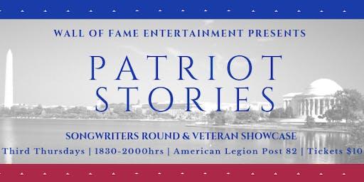 Patriot Stories | Songwriter's Round & Veteran Showcase