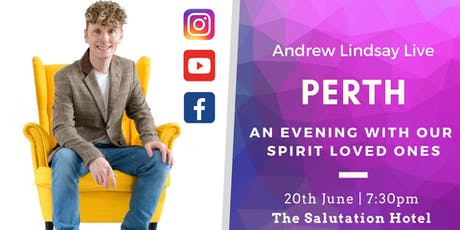 "Andrew Lindsay Medium Live in PERTH ""Spirit on Earth Tour"" tickets"