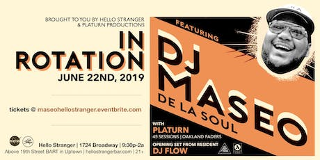 Hello Stranger presents DJ Maseo from De La Soul tickets