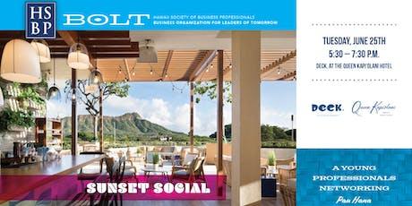 BOLT Sunset Social: HSBP Young Professionals Pau Hana tickets