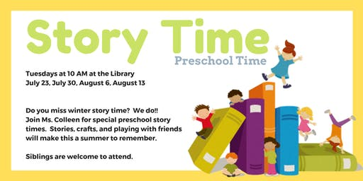 Preschool Story Time - Stay & Play