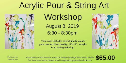 Acrylic Pour and String Art Workshop