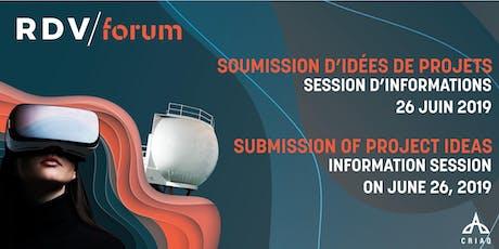 RDV Forum billets