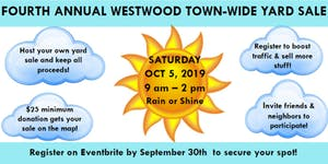 2019 Westwood Town-Wide Yard Sale & Clean Out Day