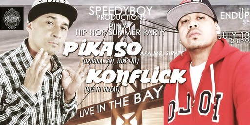 Pinoy Hiphop Summer Party Feat: Konflick, Pikaso & local Bay Area Artist