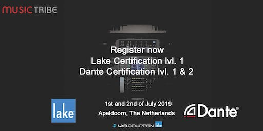 Music Tribe Dante lvl. 1& 2 + Lake lvl. 1 certified training