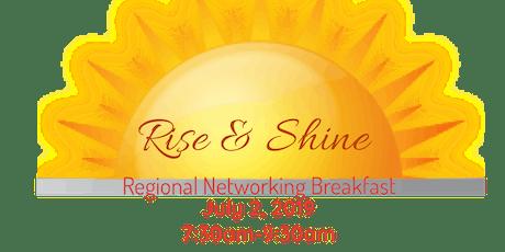 Rise & Shine Regional Networking Breakfast tickets