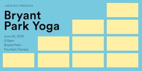UWIB NYC Presents: Girl Power Yoga in Bryant Park! tickets