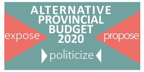 Brandon Community Conversation to build an Alternative Provincial Budget tickets