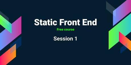 Static front end Course(Free): Session 1 tickets