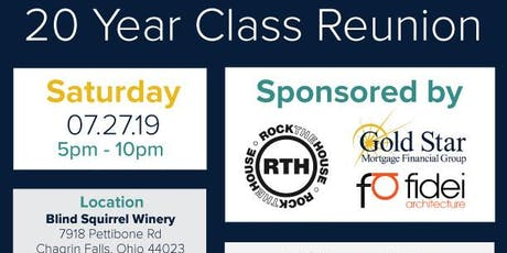 Class of 1999 20 Year Reunion! Blind Squirrel Winery tickets