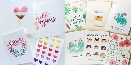 Watercolor Stationery Workshop at Hudson County Community College tickets