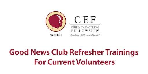 Good News Club Refresher Training - Saturday August 3, 2019