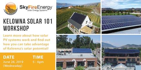 SkyFire Kelowna Solar 101 Workshop tickets