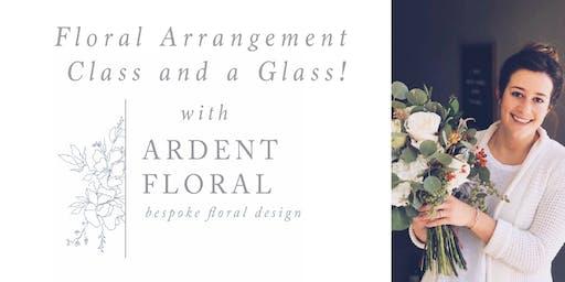 Flower Arrangement Class with a Glass