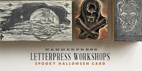 Letterpress Halloween Card Workshop (Afternoon Session) tickets