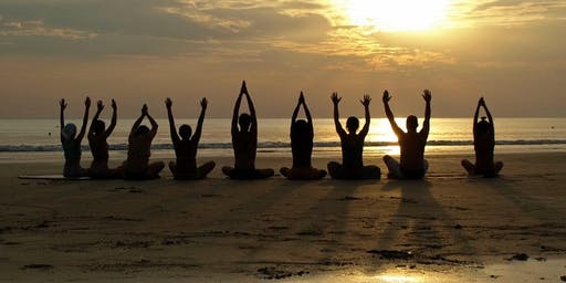 Sunset Solstice Yoga on Squam with live music featuring Audrey Drake