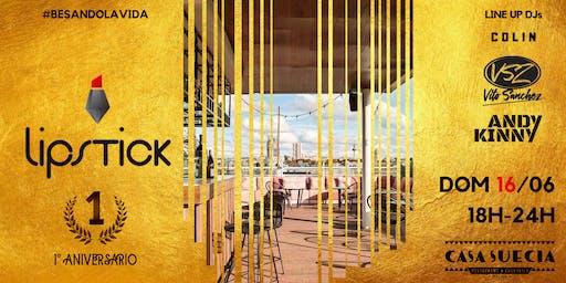 """Lipstick 1º Aniversario """"Red&Gold"""" @Terraza Hotel NH Casa Suecia Domingo 16 de Junio  Start 18H"""
