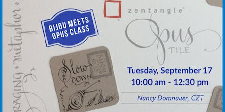 Bijou Meets an Opus Tile Zentangle Class tickets