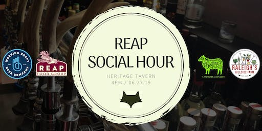 REAP Food Group x Heritage Tavern Social Hour