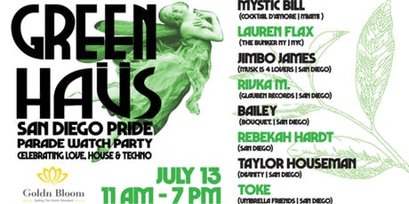 Green Haüs - a San Diego Pride Parade Watch Party tickets