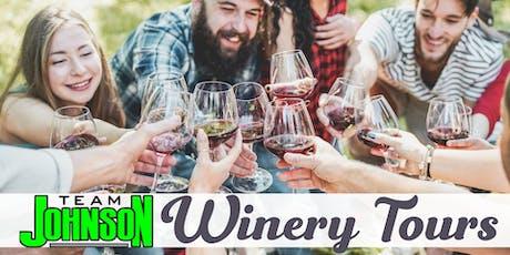 Team Johnson's Wine Tour tickets