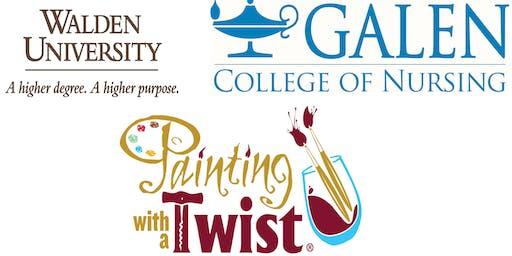 Walden University Paint & Sip with Galen & PNASA